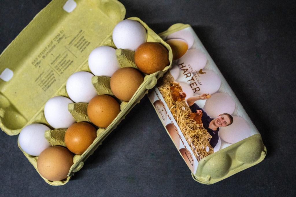 Eier Verpackung Geflügelhof Daniel Harter